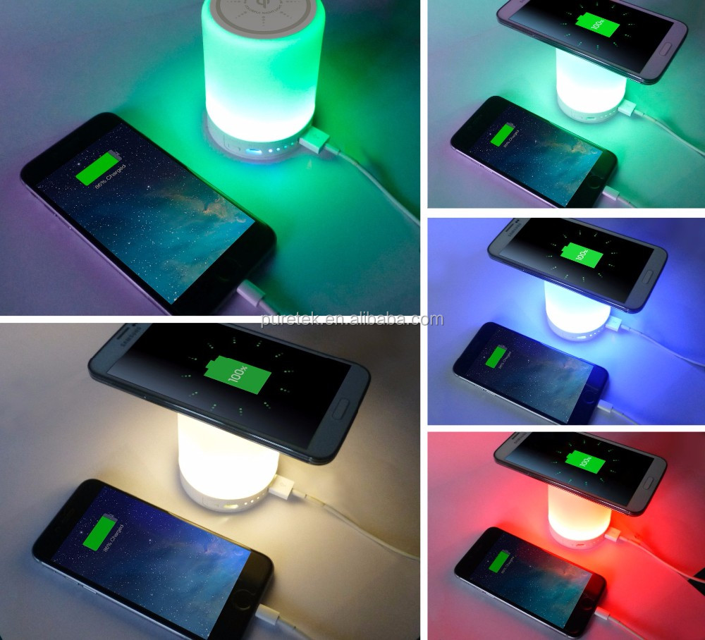 Factory direct wholesale Best Christmas Gif Breathing LED Table Lamps with Quick Charge 10000mAh Qi Wireless Power Bank Charger