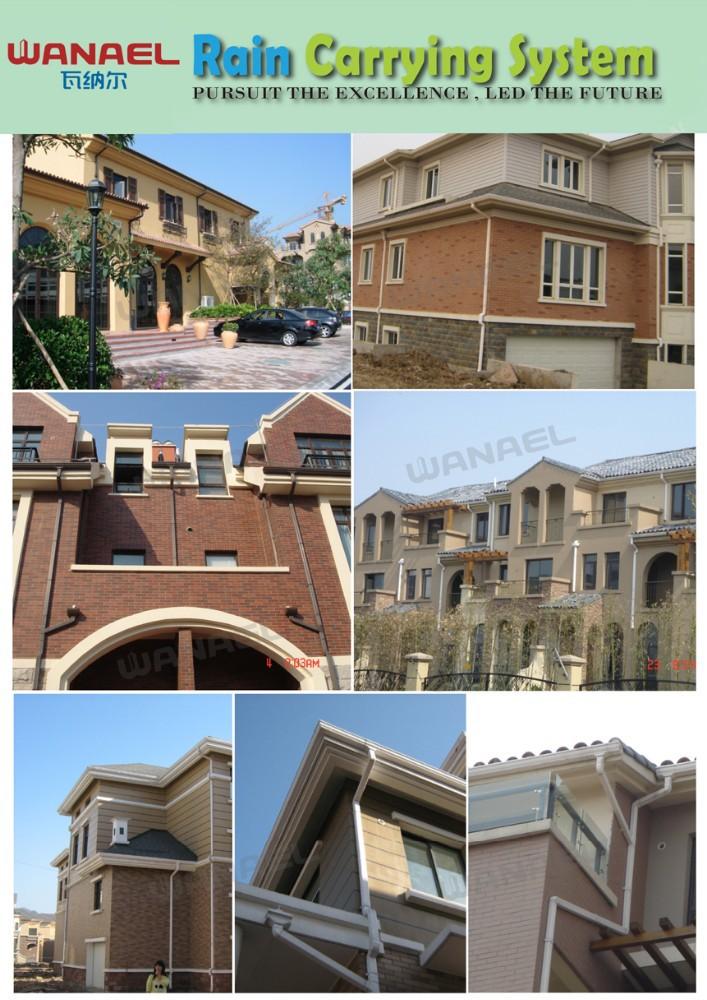 Wanael PVC Half Round Roof Water Drain,roof