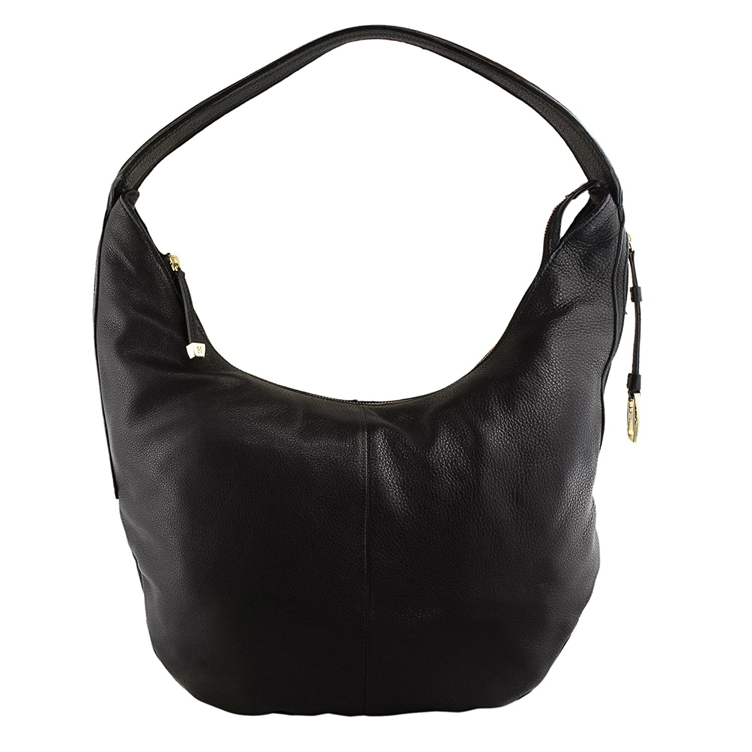 Get Quotations Halston Heritage Cx2006l1 Leather Slouchy Shoulder Hobo Bag Black