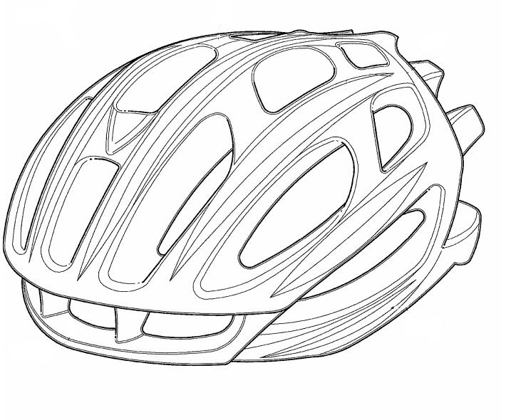 bicycle helmet coloring page - photo #46