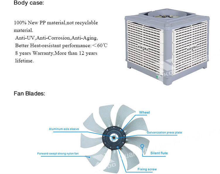 China Supplier Roof Mounted Evaporative Air Cooler With Cooling ...