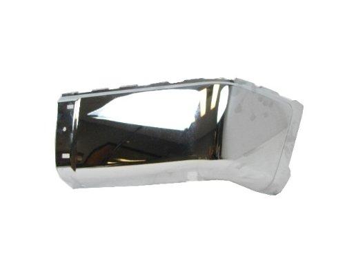 2007-2012 CHEVY SILVERADO 1500 2500HD 3500HD / 2007-2012 GMC SIERRA 1500 2500HD 3500HD REAR CHROME BUMPER CAP (STEEL) WITHOUT SENSOR HOLE RH=PASSENGER SIDE