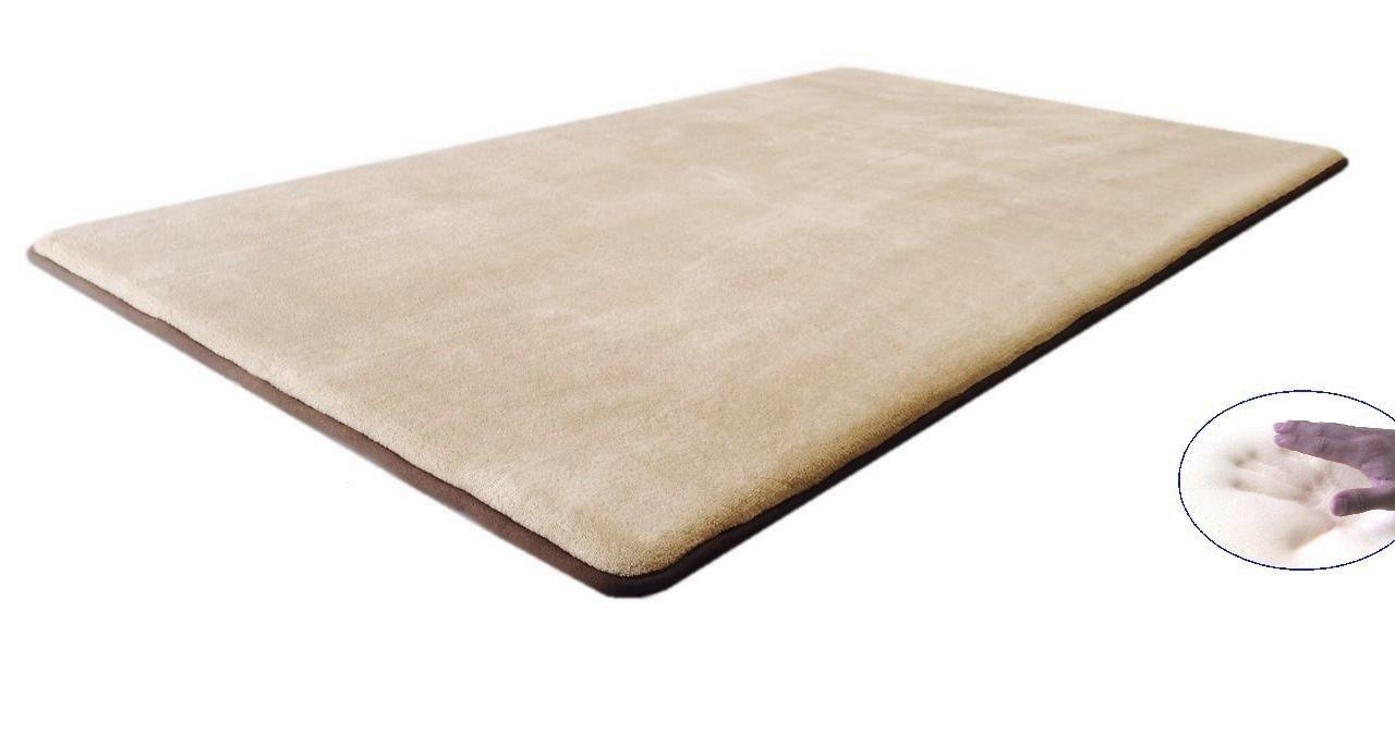 eConsumersUSA 42''x28'' Comfort MicroPlush Beige Luxurious Memory Foam Waterproof Anti Slip Rug Pad Mat for homes, kitchen, baths, bedrooms, pets, activities.