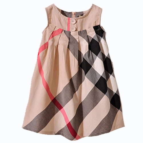 2016 Summer Girl Dress100% Cotton baby Girl Clothes High Quality Kids Clothes Sleeveless Children Clothing Casual Vestidos