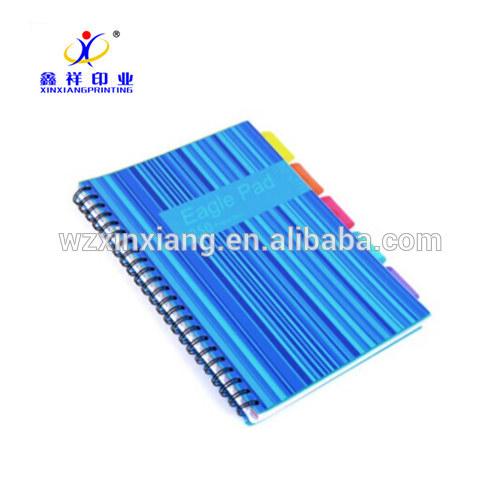 カスタム卸売プリントメーカー A4/A5 サイズ青色さまざまなエクササイズ紙ブックノートブック学生のための