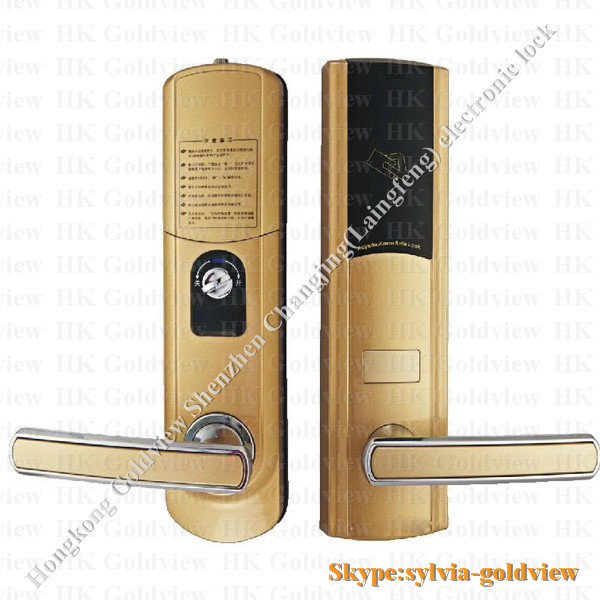 american biometric types of door lockszinc alloy electronic hotel card reader door lock residential