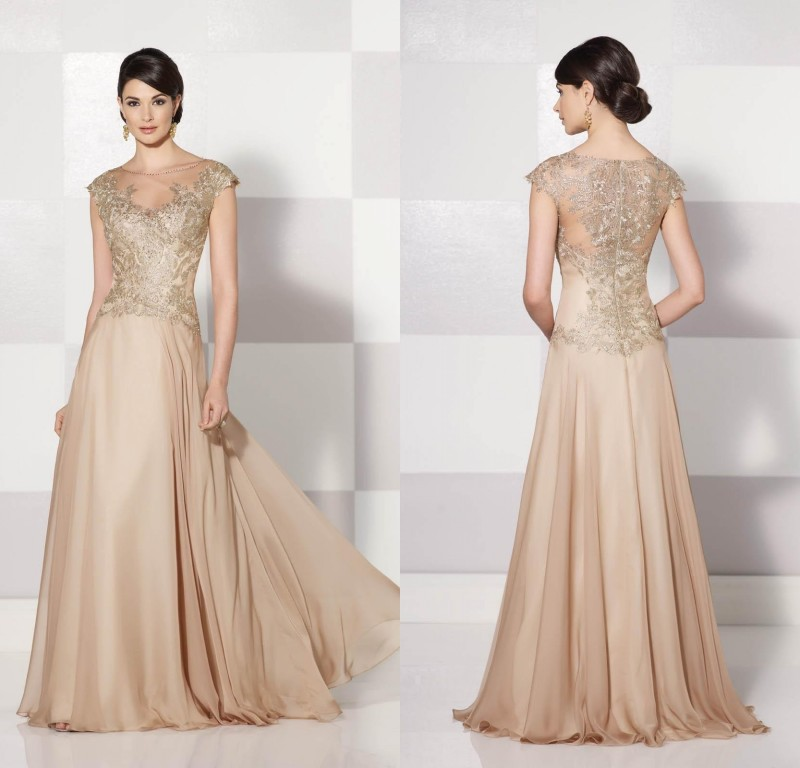 Stunning Mother Of The Bride Dresses: Stunning-Beautiful-2015-Champagne-Mother-Of-The-Bride