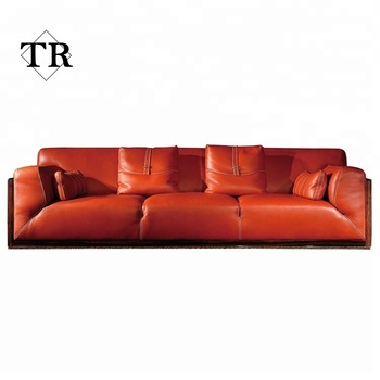 Modern Italy Full Genuine Leather Sofa