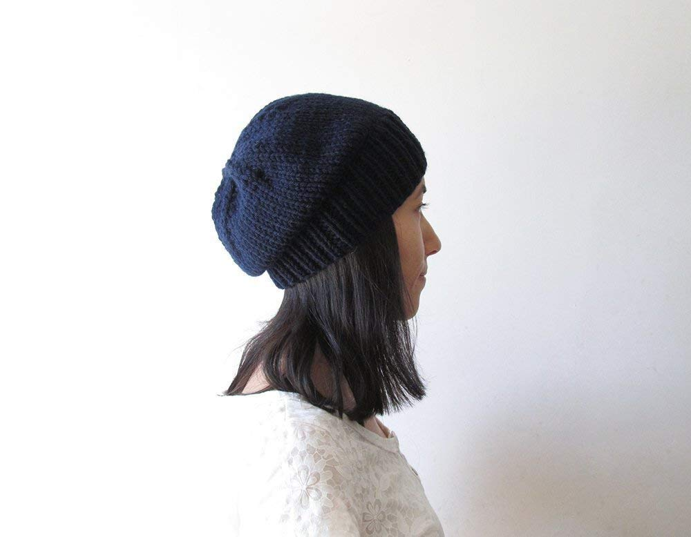 8ee48211a52 Get Quotations · Navy Blue Slouchy Hat