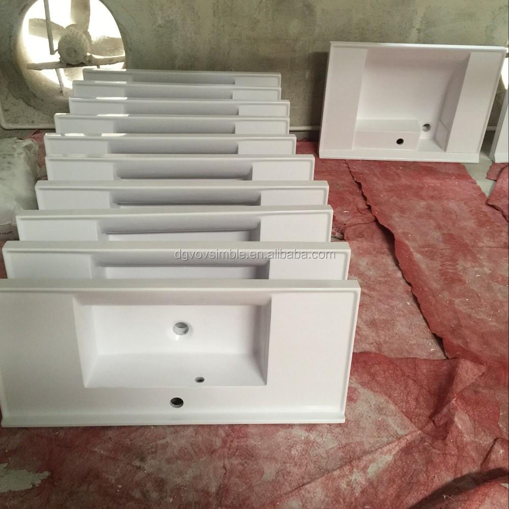 Bathroom table top - New Design Bathroom Solid Surface Wash Basin Table Top Wash Basin Cabinet Wall Hung