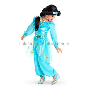 Toddler Child Kids Girls Jasmine Costume Aladdin Princess Fancy Dress QBC-2258