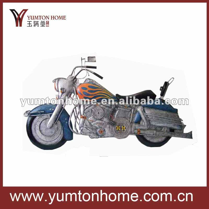Metal decorative and cool wall art motorcycle