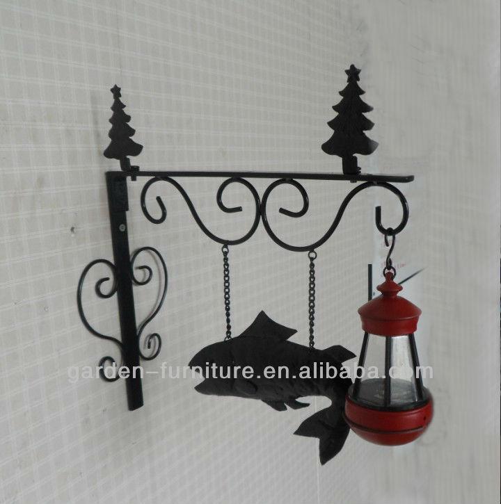Decorative Garden Bracket Vintage Metal Shelf Wall Mounted Outdoor ...