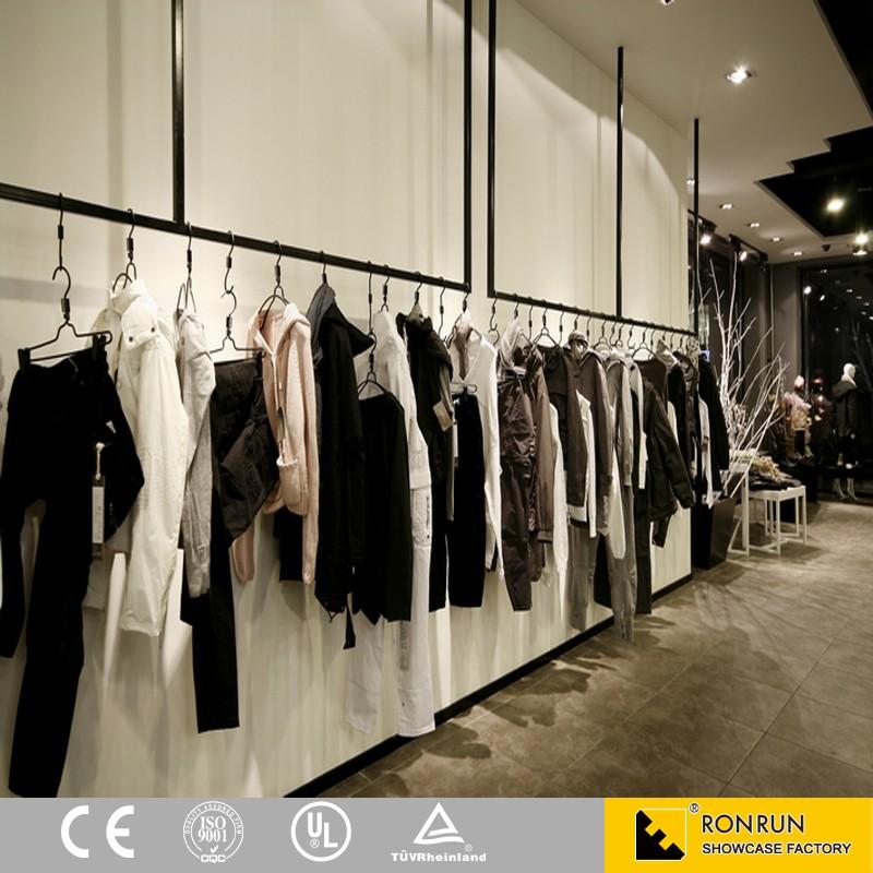 Luxuy Marque V Tements Magasin Vitrine Porte V Tement Pour La Vente Au D Tail Boutique Design D