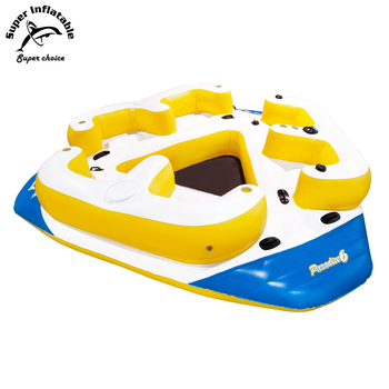 River Lake Giant 6 Person Inflatable Floating Island For Sale