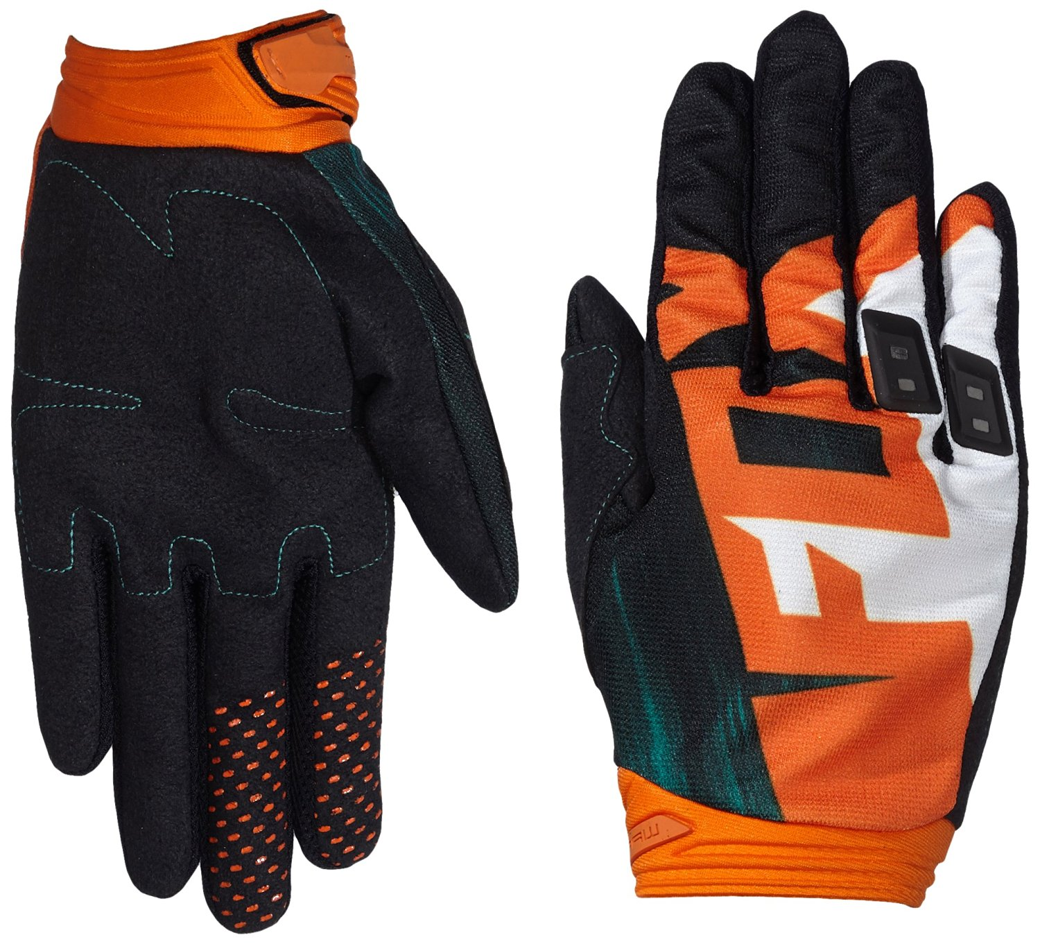 Fox Racing Dirtpaw Vandal Men's Off-Road Motorcycle Gloves - Green/Orange / 2X-Large