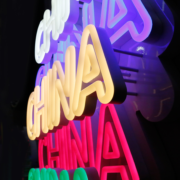 Atacado Mini Outdoor Personalizado Chinês 3D Néon Signage Neon LED Sinal China