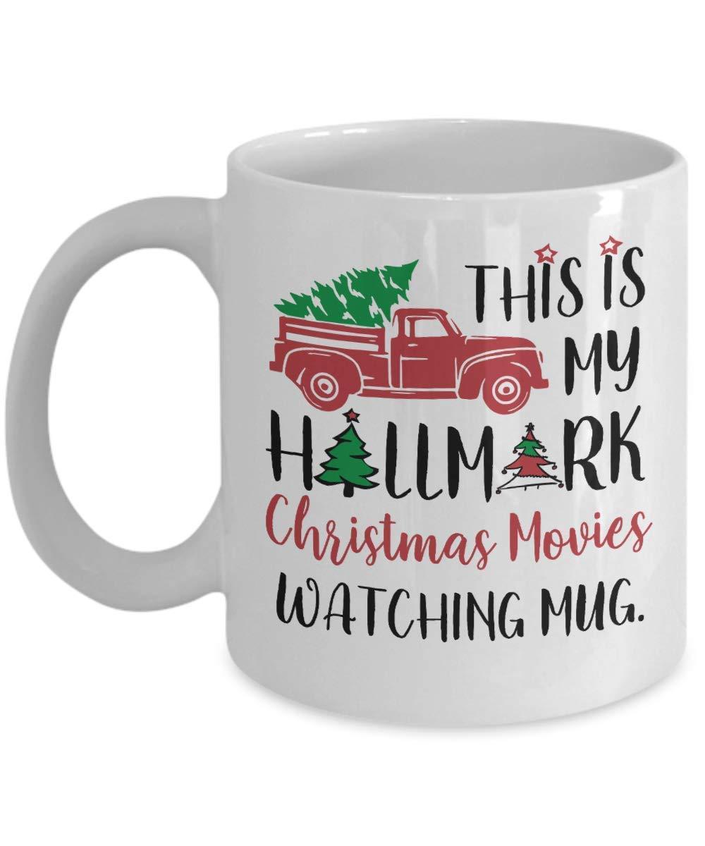 b32d646f245 Get Quotations · Hallmark Christmas Gift Hallmark Christmas Movies Mug This  is my watching Funny Santa Coffee Mugs Cup