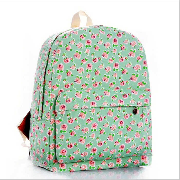 55b77ac90cc7 Buy 24 Color Women sweet smaller ditsy Rose Flower printing Backpack school  college shoulder book bags preppy girls canvas backpacks in Cheap Price on  ...