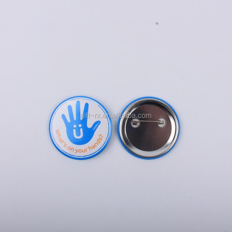 Pin Button Badge Ø38mm WARNING Speldjes Verzamelingen