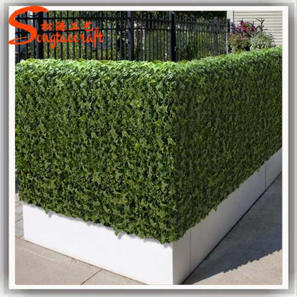 Artificial Plants Garden Fence Made Of Artificial Green Leaf Fence