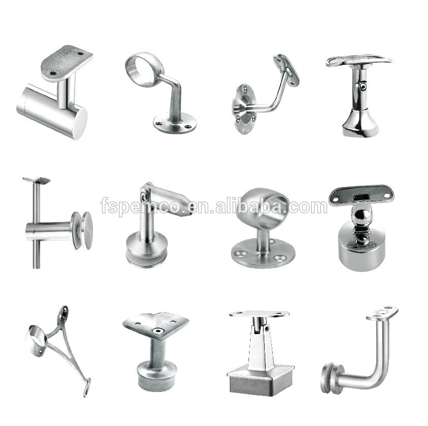 Wholesale Wall Mounted SS Stair Railing Pipe Bracket Stainless Steel Railing  Accessories For Stair Railing Bracket