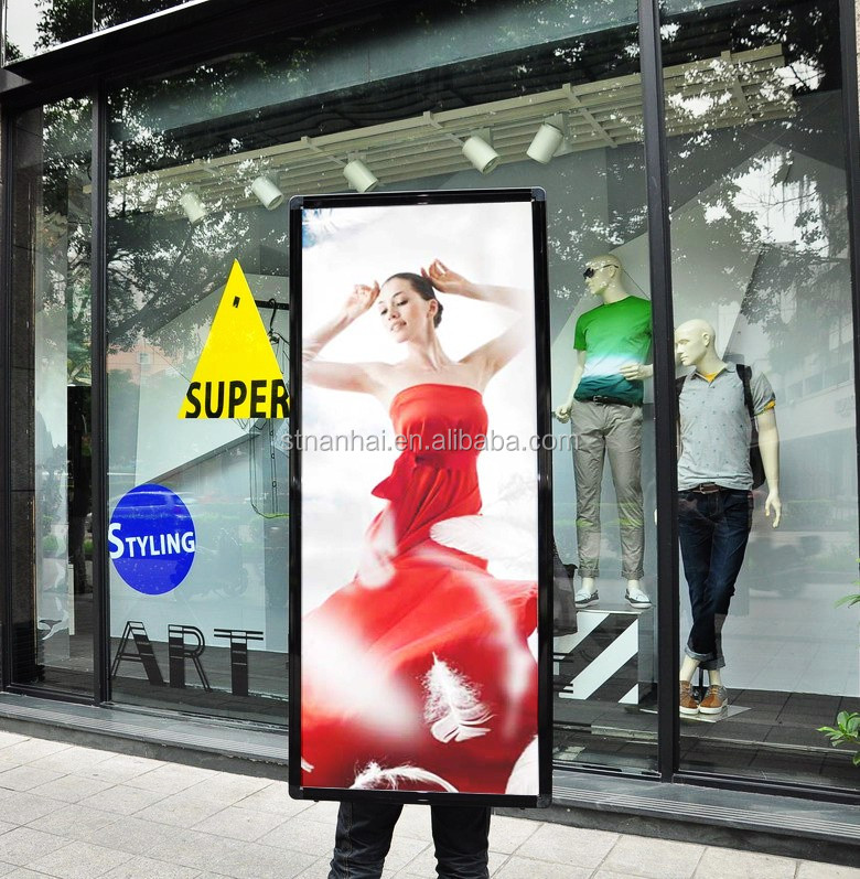 STNANHAI J1A -0001 Two faces look walker indoor&outdoor advertising illuminated walking mobile billboard