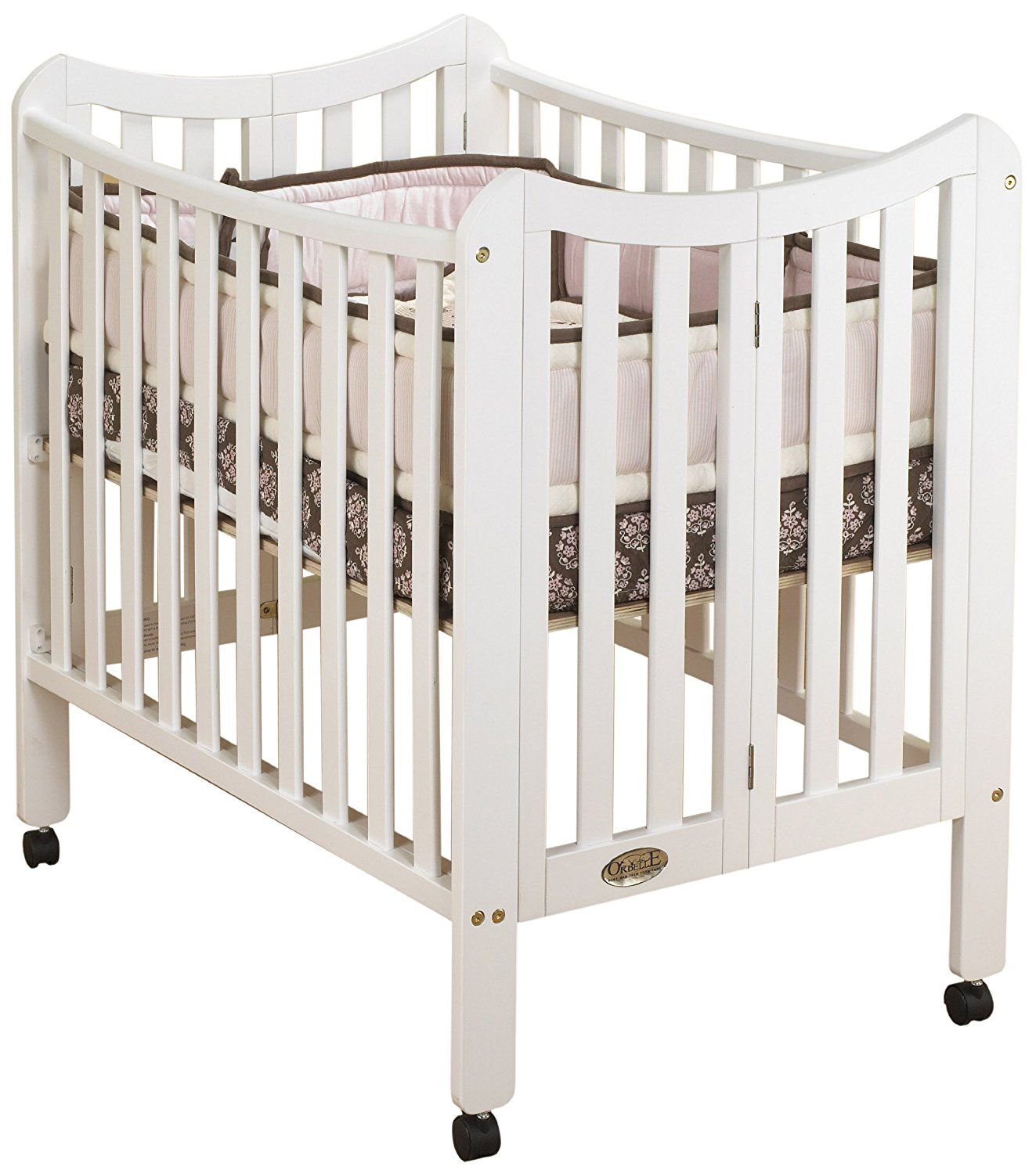 Get Quotations · Orbelle Trading The Tian 3 In 1 Portable Crib With Two  Levels, White