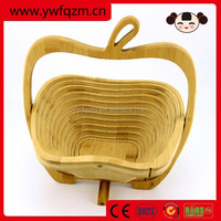 foldable hanging fruit wooden basket
