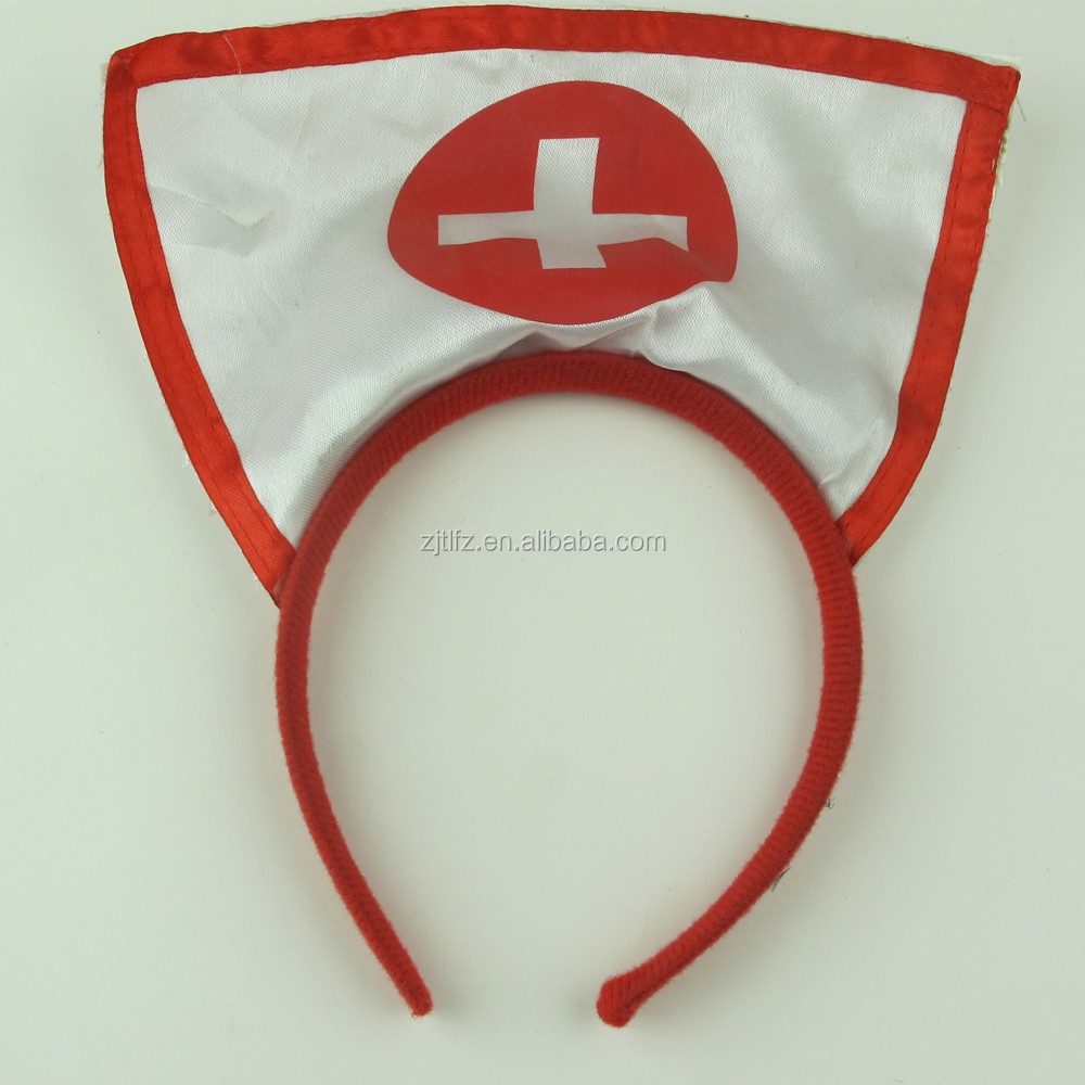 Impressão do logotipo cruz sexy white nurse headband