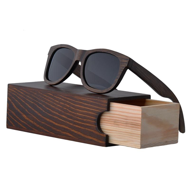 Gros  AW613 2018 Nouveau À La Mode UV400 Protection Polarisée Brun Bambou  lunettes de 029f993cd333