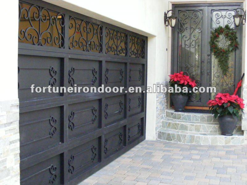 utilis en fer forg portes de garage vente portes id de produit 593147016. Black Bedroom Furniture Sets. Home Design Ideas