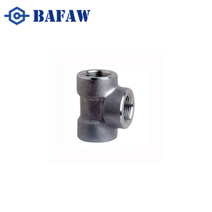 Strict quality testing all size available black steel pipe fitting tee