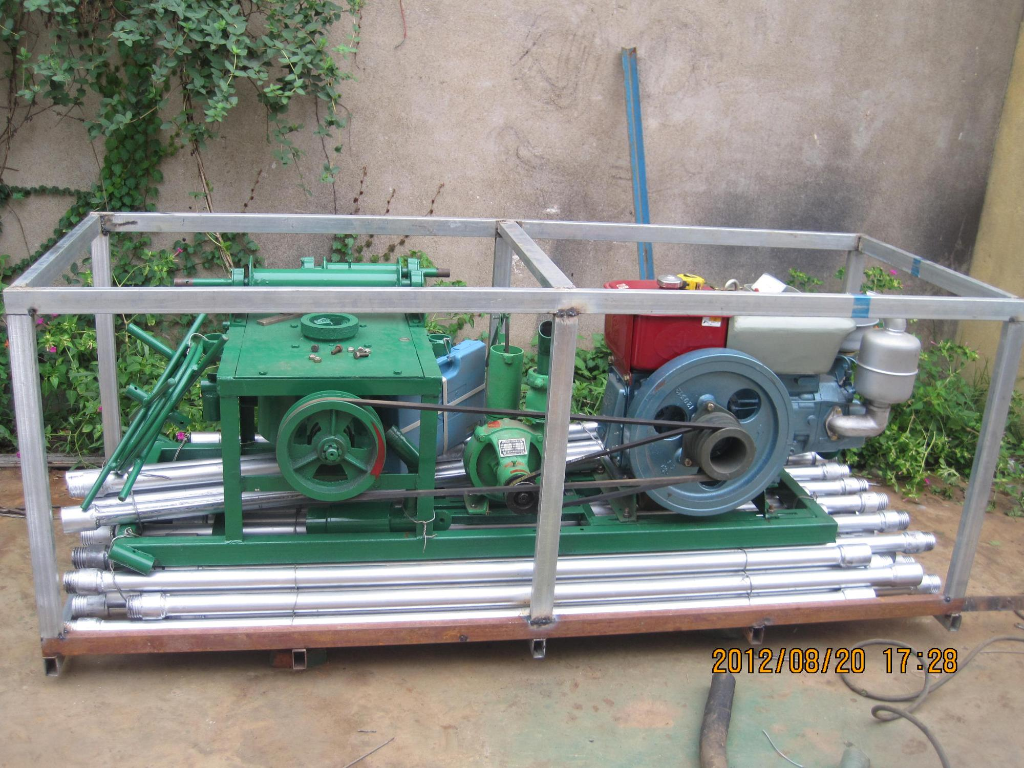 small farm machinery equipment diesel power drilling rig for depth 60-80m drilling diameter 70-300mm