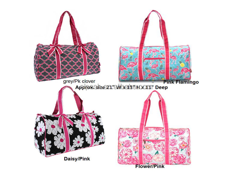 Personalized Quilted Gym Duffle Bag In Great New Styles And Colors