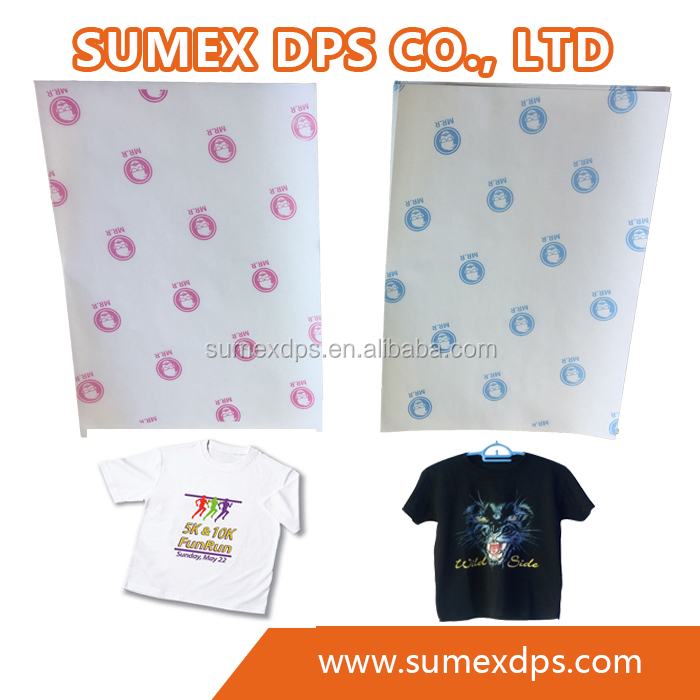 Mr.R Inkjet Printable Vinyl Dark T-shirt Fabric Heat Transfer Paper 200gsm with Sheet Size