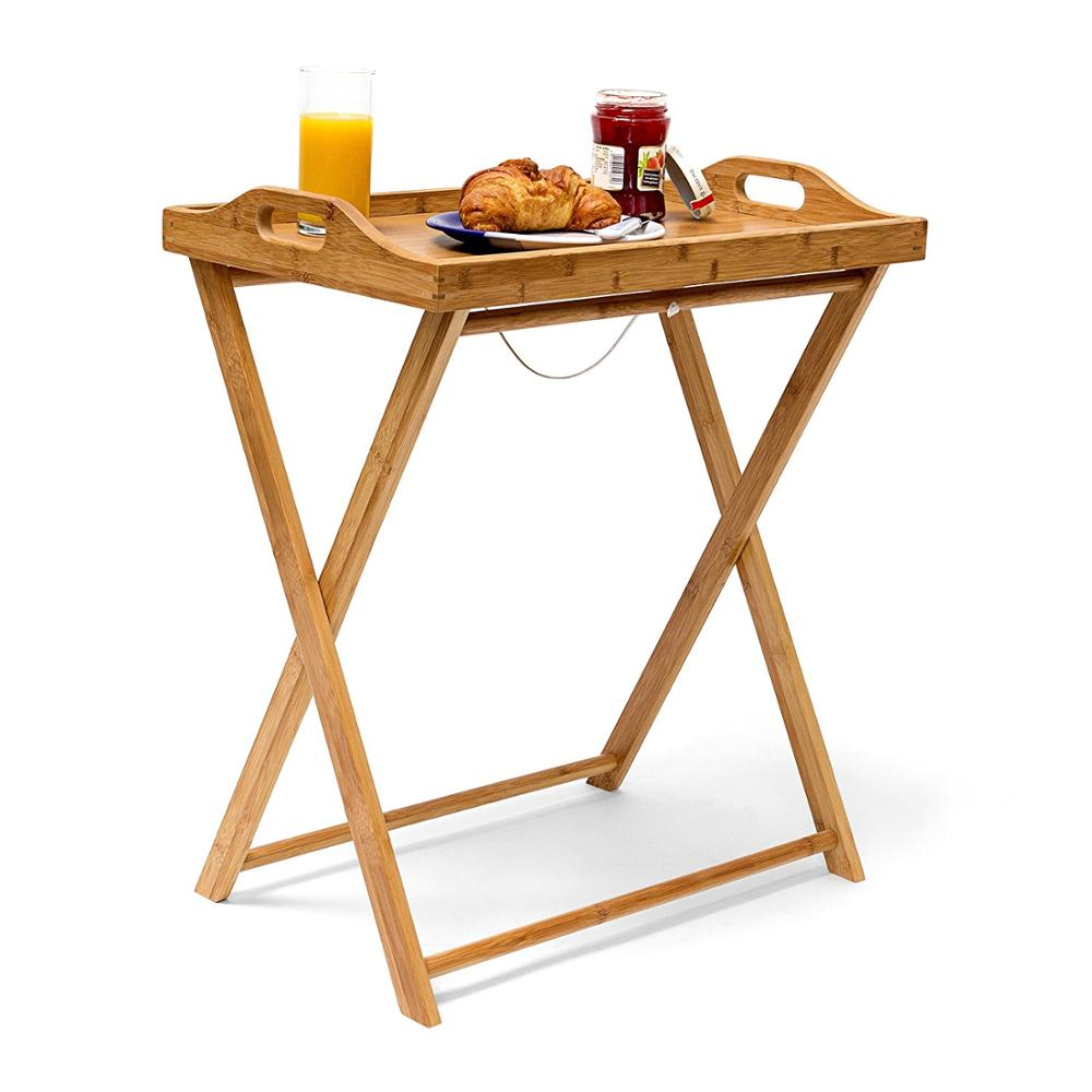 Folding Portable Tray Table Top Room Dinner Coffee Tables With Removable  Tray