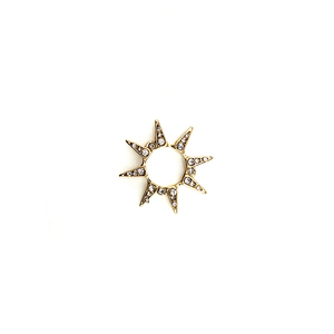 diy jewelry accessories 2018 fashion star charm earring pendant gold spacer for charm making wholesale