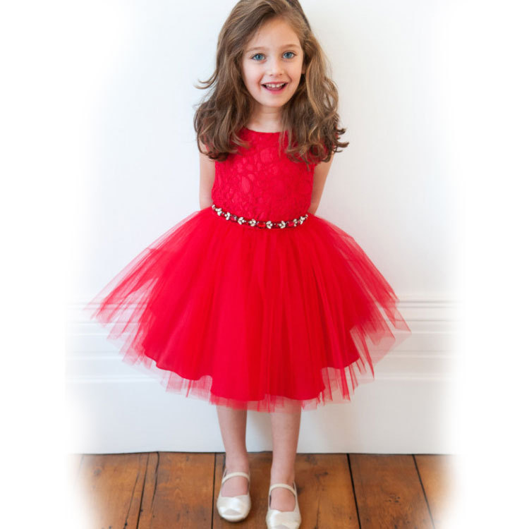 5bd1a40550c Get Quotations · Girl Dress Direct Selling Rushed Lantern Sleeve Minnie 2015  Short Sleeved Lace Princess Dress Gauze Girl