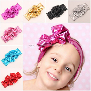 New Arrival fashion hair bow band toller baby girl large bow knot headband  for children hair 97b585edf03