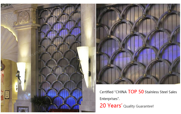 Hotel stainless steel decorative interior metal wall panels room partition wall