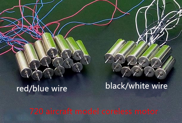 High speed aircraft model 720 coreless motor diy Quadcopter 1mm Shaft 3.7V 45000/rpm