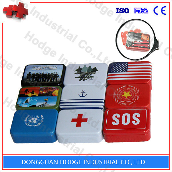 SOS Emergency Survival Metal First Aid Kit Box
