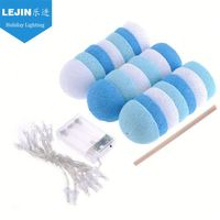 Factory price battery cotton ball led string light for holiday