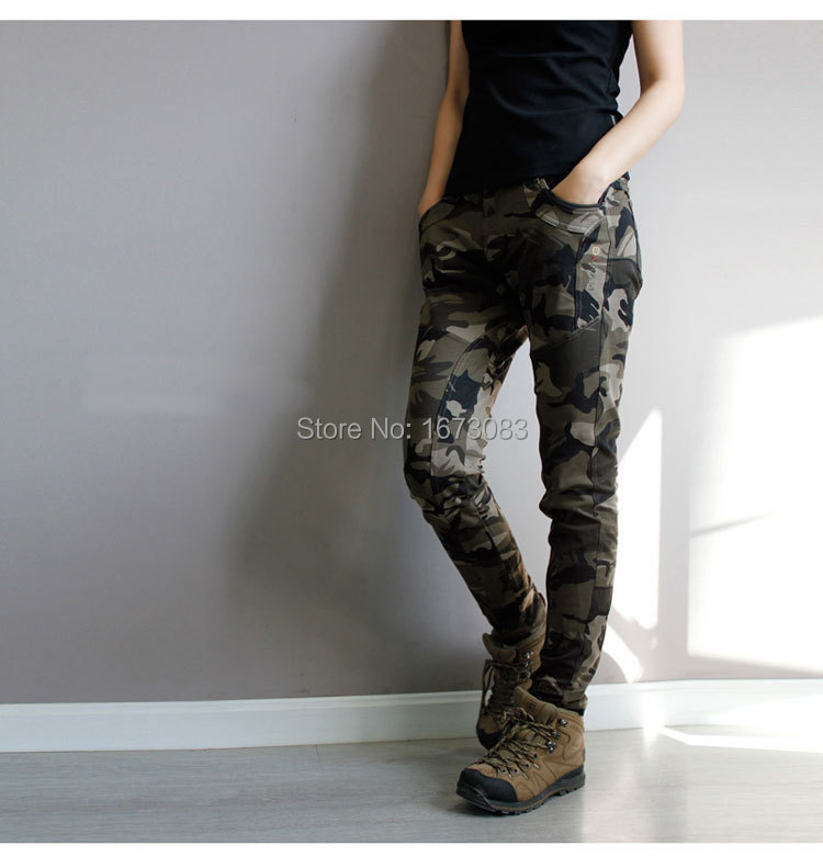 a17cd4ed774 2019 Wholesale Super Quality Army Green Fatigue Camouflage Cargo Pants Plus  Size High Stretch Jeans Femme Skinny Denim Jeans Womens Baqueros From  Goodly3128 ...