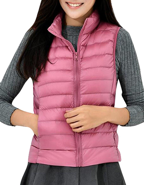 Jaycargogo Mens Fashion Sleeveless Warm Down Vest Padded Jacket Puffer Vest