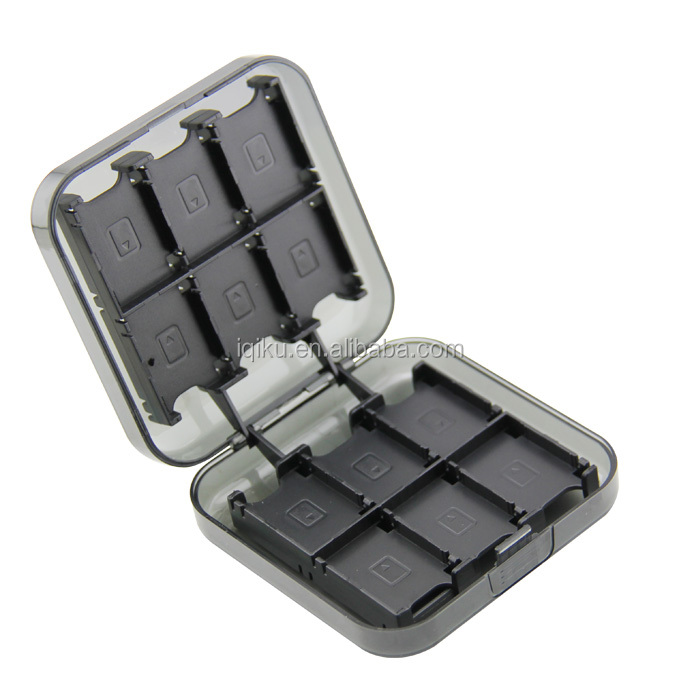Best Selling Products 24-in-1 Game Card Storage Box and Game Card Case with 2 TF Cards Holders for Nintendo Switch Black