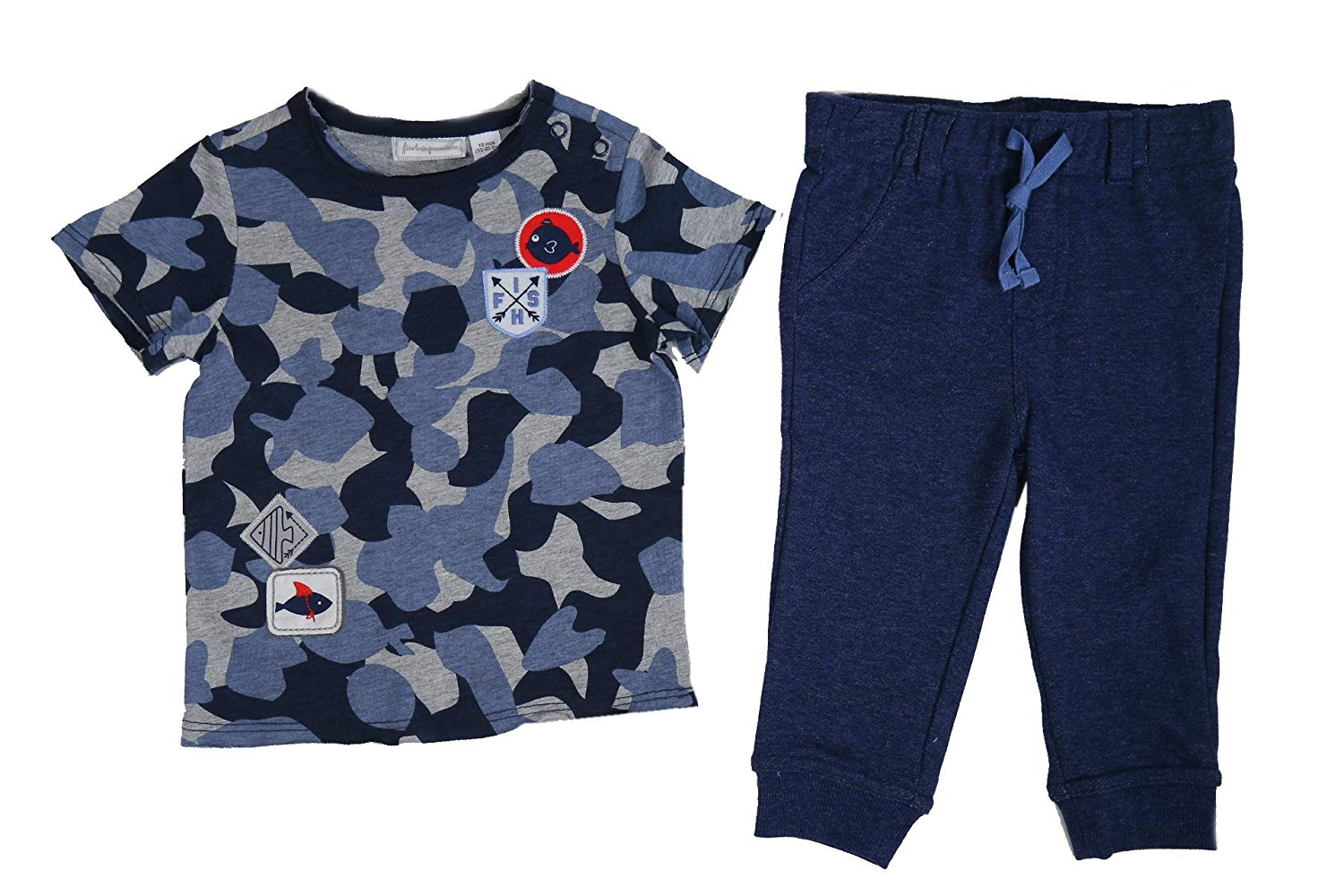 First Impressions Baby Boys 2-Pc. Fish-Camo-Print T-Shirt & Pants Set (3-6 Months 23 1/2-26 1/2 12-17lbs)