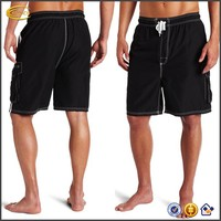Ecoach board shorts Men's drawstring waistband and cargo pocket Triple-needle stitched side seams Extended Size swimming trunk