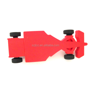 Small Racing Car USB Flash Pen Drive PVC F1 Car USB Memory Stick USB 128MB Drive